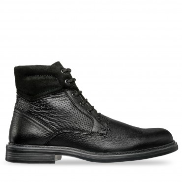 BOTA DE PIEL COLOR NEGRO LIBERTY