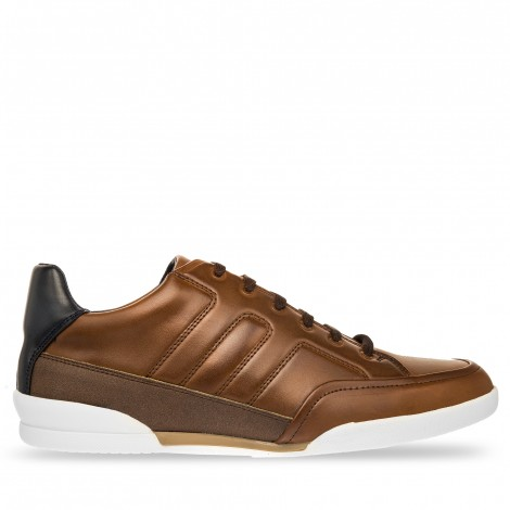 SNEAKER CASUAL LOEB COLOR TAN NAVY