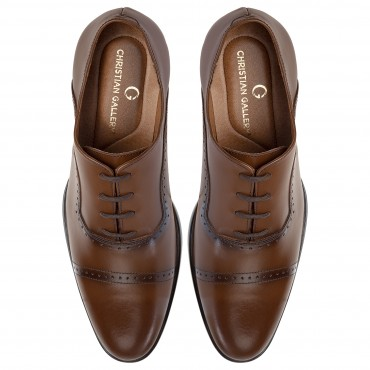 ZAPATO DE VESTIR POTTER ESTILO OXFORD COLOR CAOBA