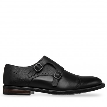 ZAPATO DE VESTIR DREAM COLOR NEGRO DOBLE CORREA