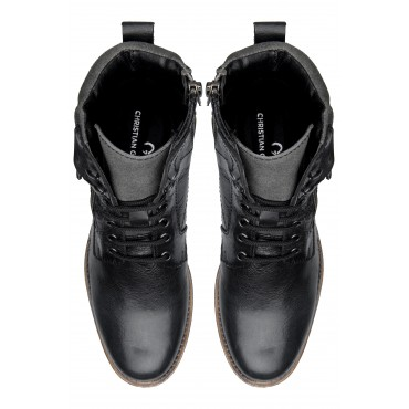 BOTA CASUAL FEELING DE PIEL COLOR NEGRO